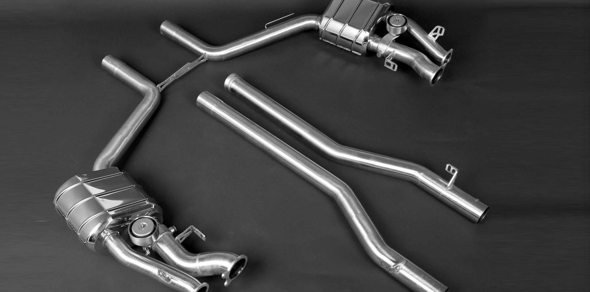 AUSPUFFANLAGE MIT KLAPPENSTEUERUNG für Mercedes CLS63 AMG Bi-Turbo