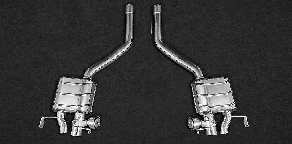 Handgefertigte Klappenauspuffanlage für alle V8 und W12 Bentley