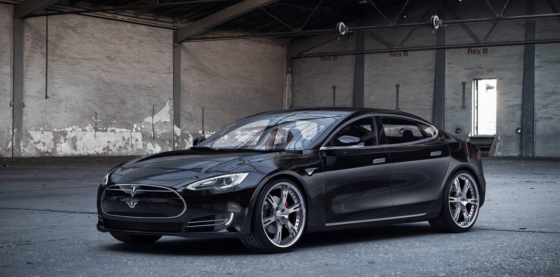 22 Zoll 6Sporz² Schmiedefelgen und Gewindefahrwerk für Tesla Model S
