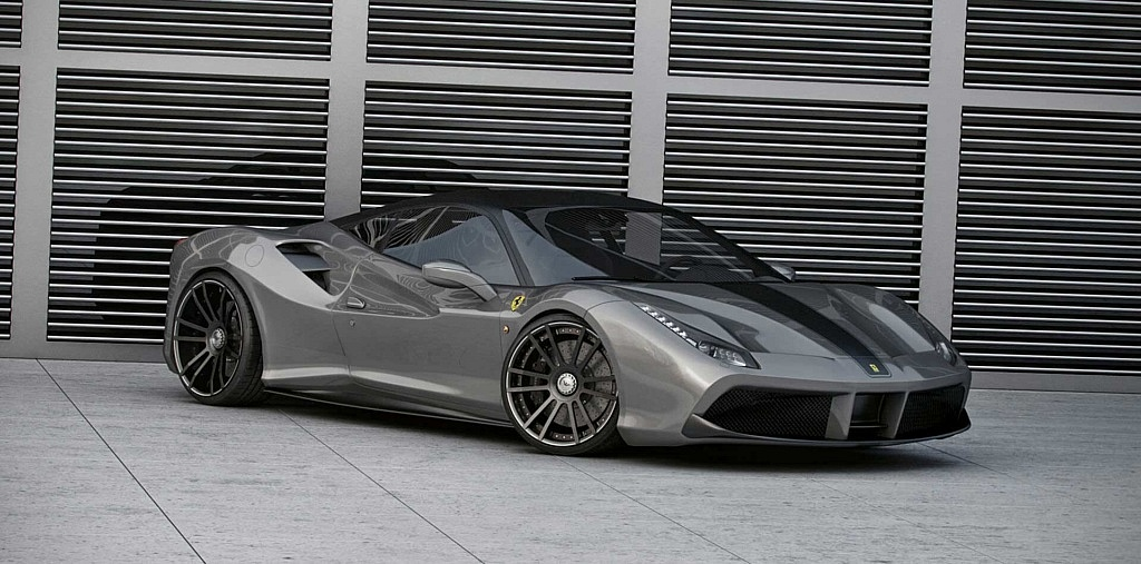 Leistungssteigerung auf ca. 735 PS an Ferrari 488 GTB mit angepa