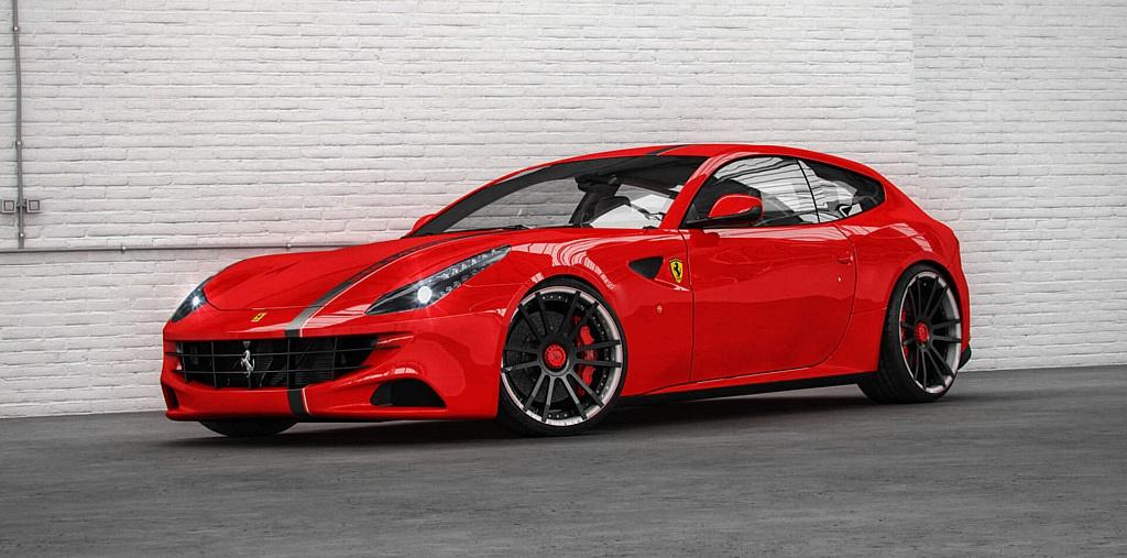Ultrakonkave Schmiedefelgen F.I.W.E. in 21 und 22 Zoll für Ferrari FF