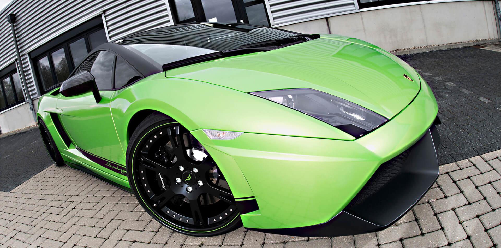 Superleggera Felgen für Lamborghini in 20Zoll in mattschwarz