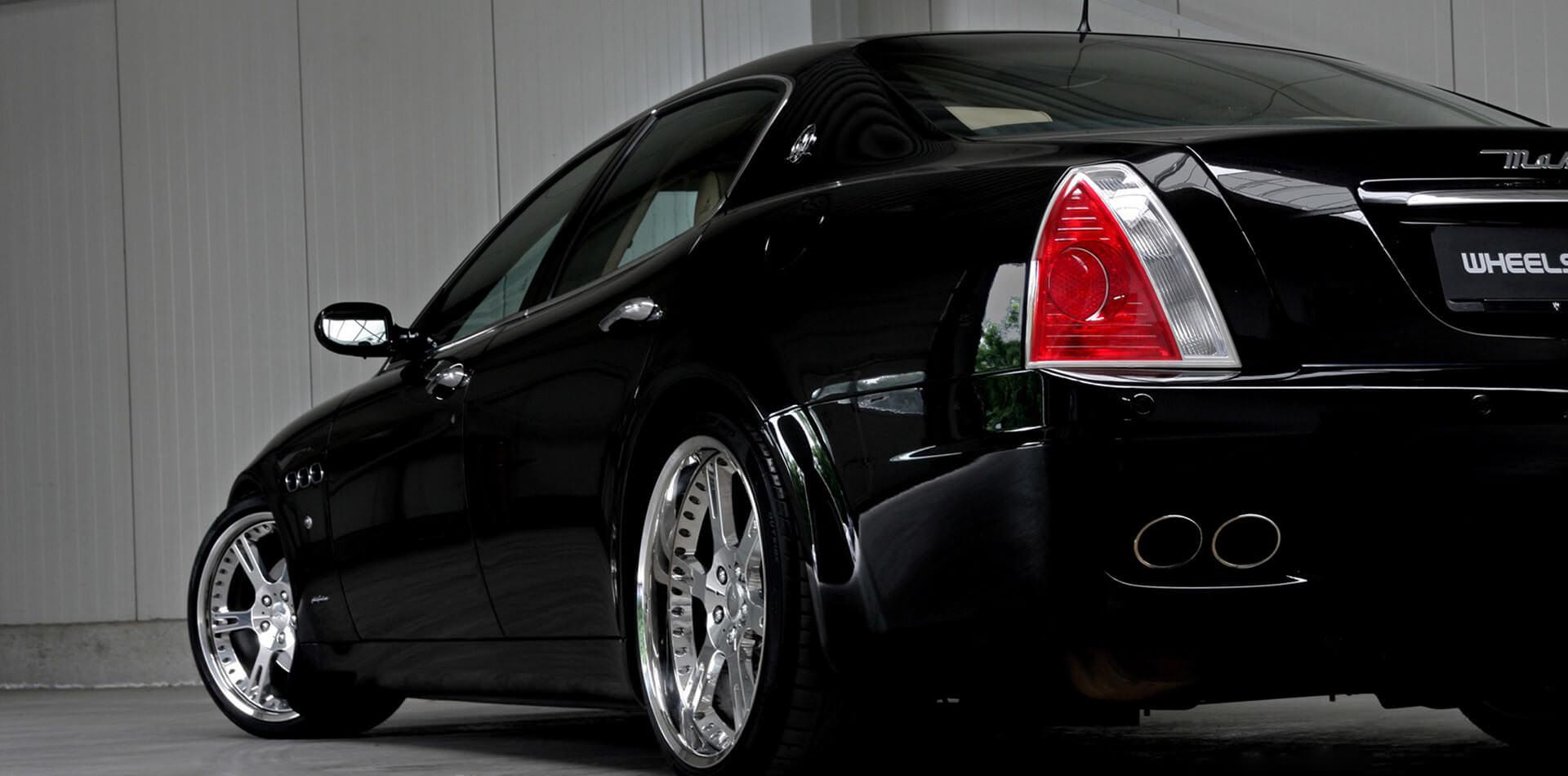 9,0+12,0×20 Zoll 6Sporz Felgen und Gewindefahrwerk für Maserati Quattroporte