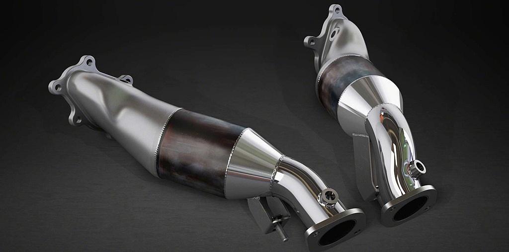 Downpipes mit Sporkatalysatoren für Nissan GTR