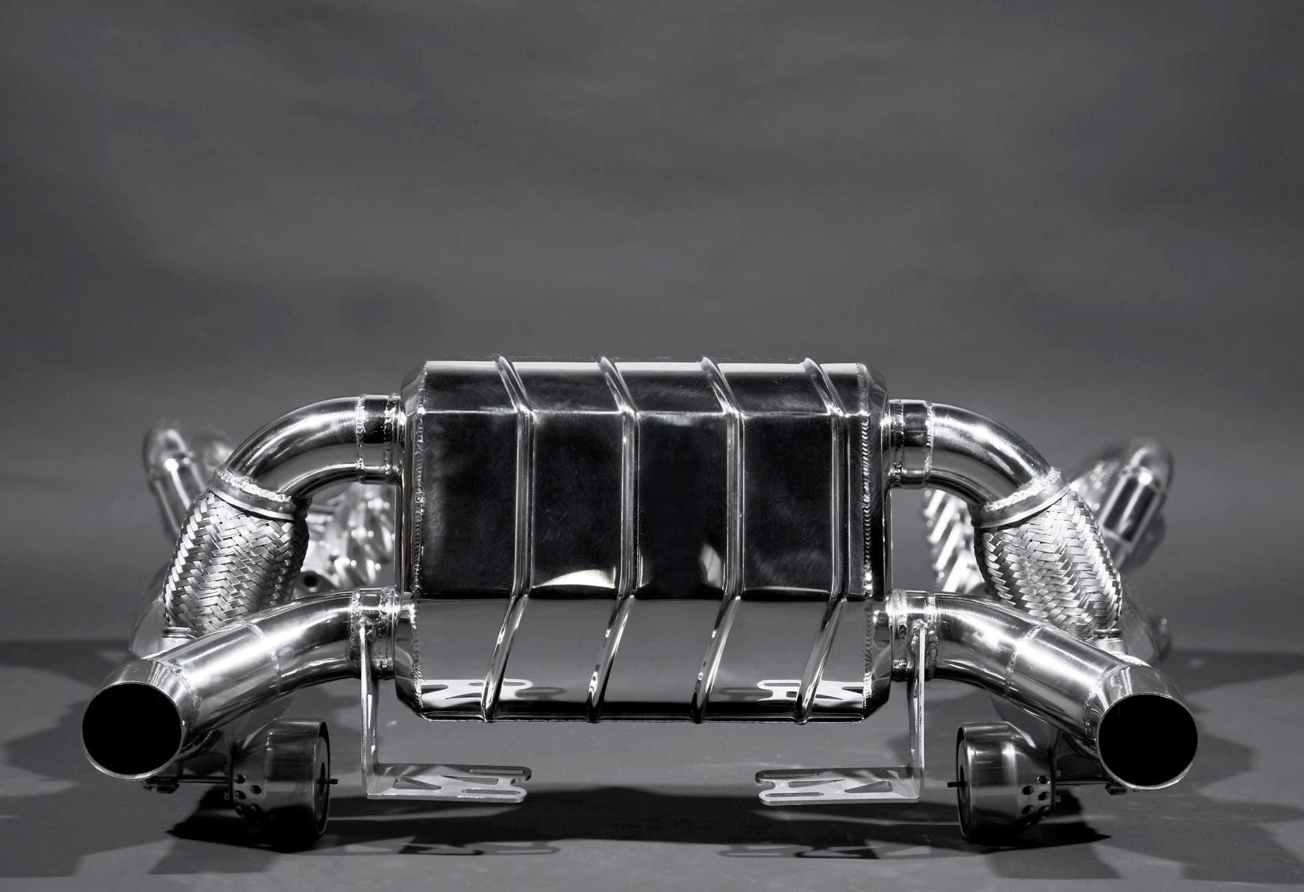 Ferrari 430 Auspuffanlage mit und ohne Klappensteuerung sowie Fächerkrümmer und Sportkatalysatoren