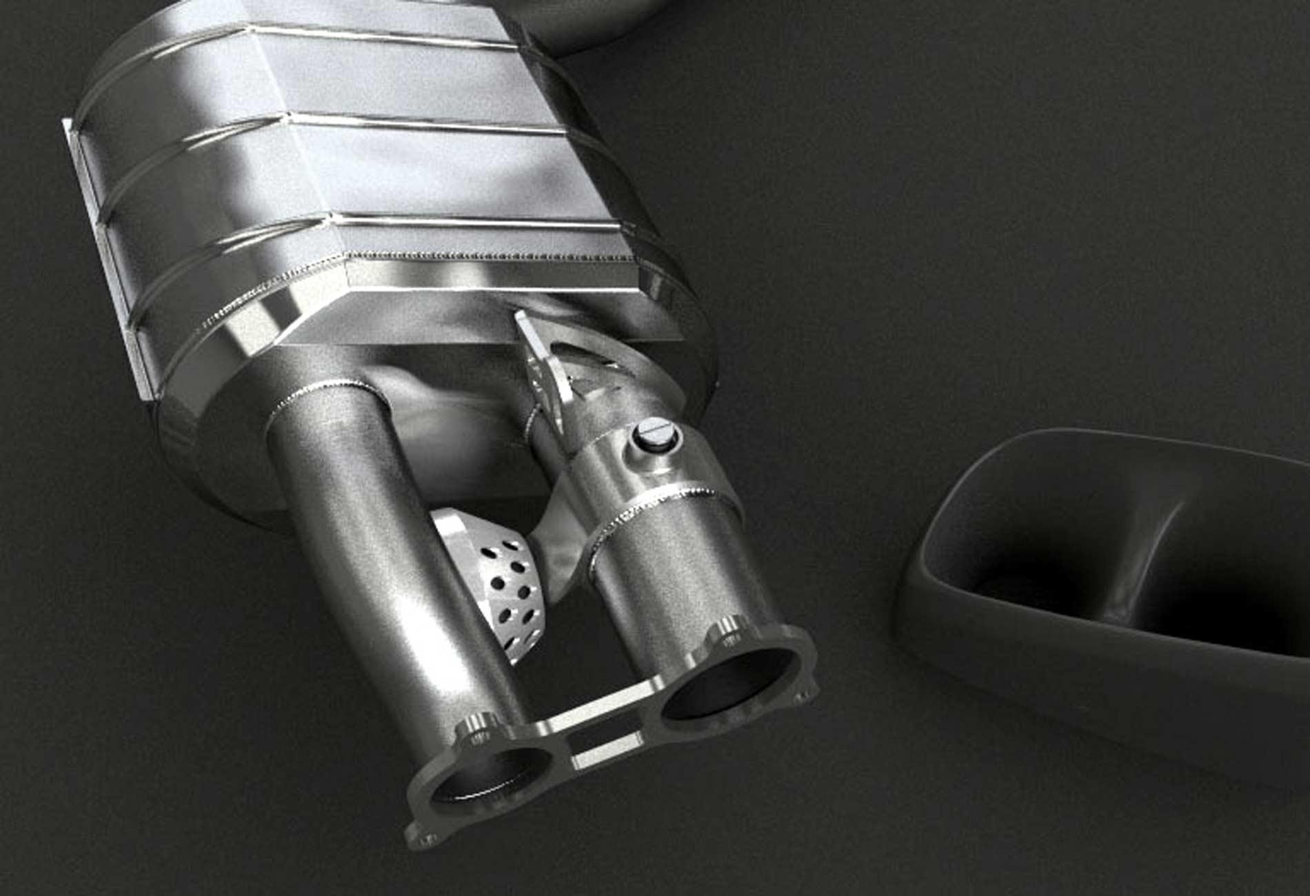 Porsche Panamera V8 Turbo Auspuffanlage mit Klappensteuerung