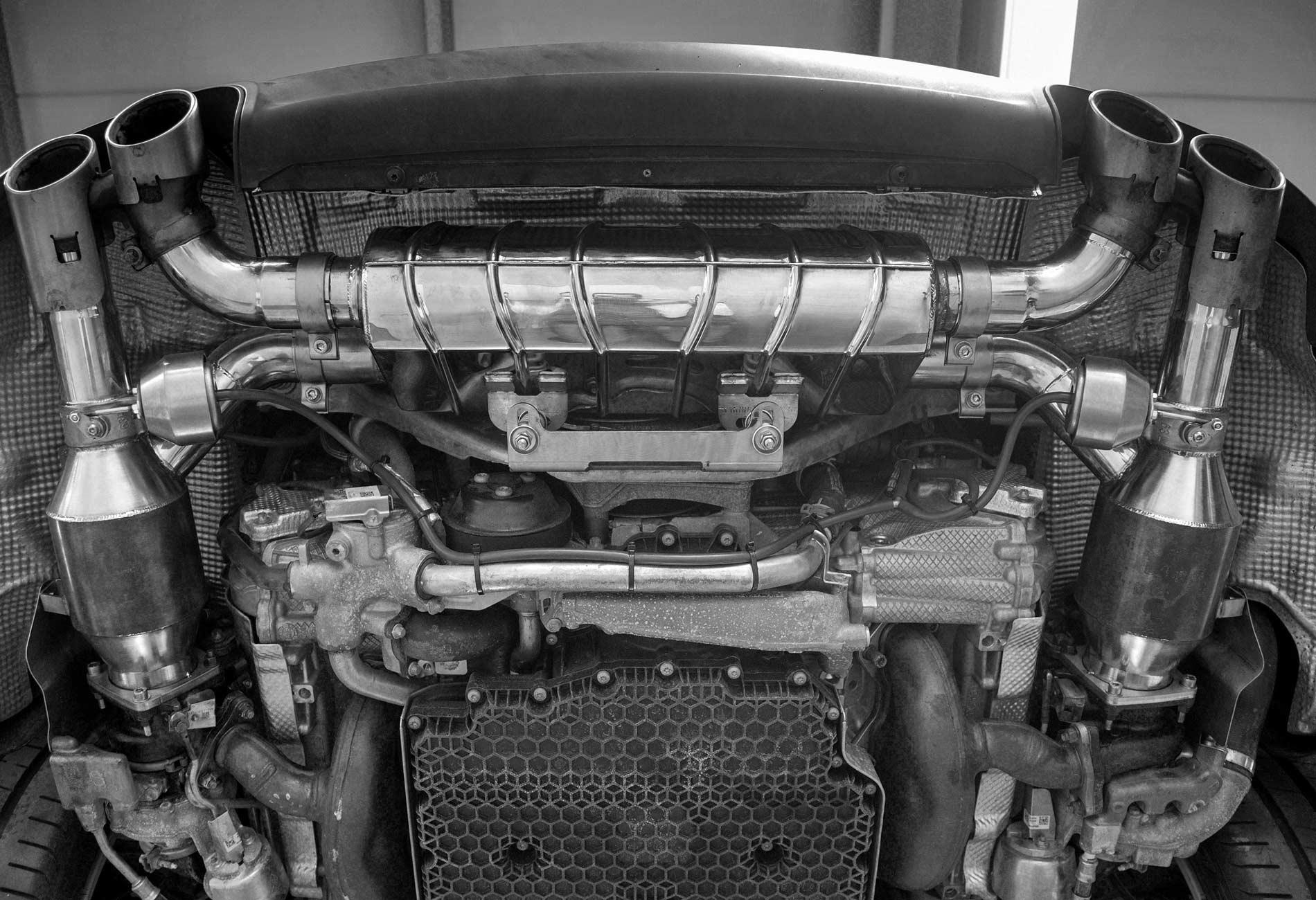 PORSCHE 991 CARRERA S BI-TURBO Auspuffanlage mit Klappensteuerung