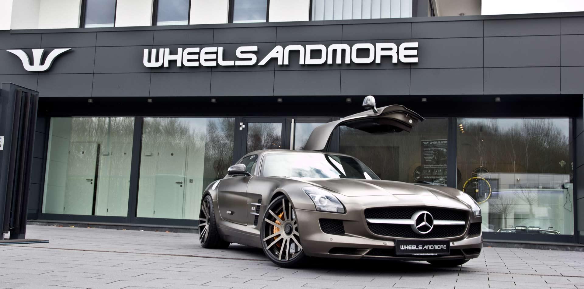 Mercedes SLS AMG tuning by Wheelsandmore mit konkaven Schmiedefe
