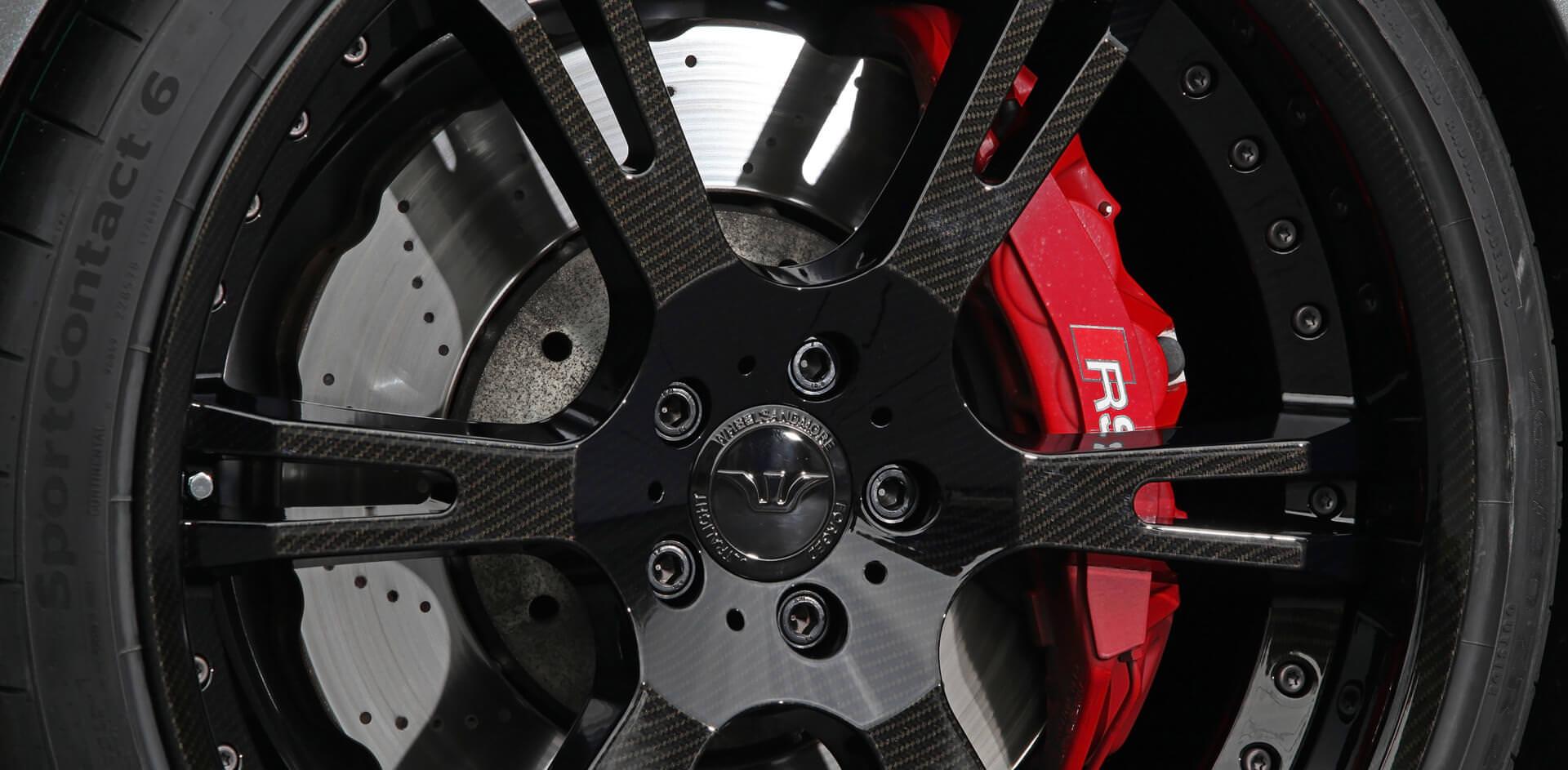 Carbonlook-Oberfläche auf 6Sporz² Felgen für Audi RS 6/7