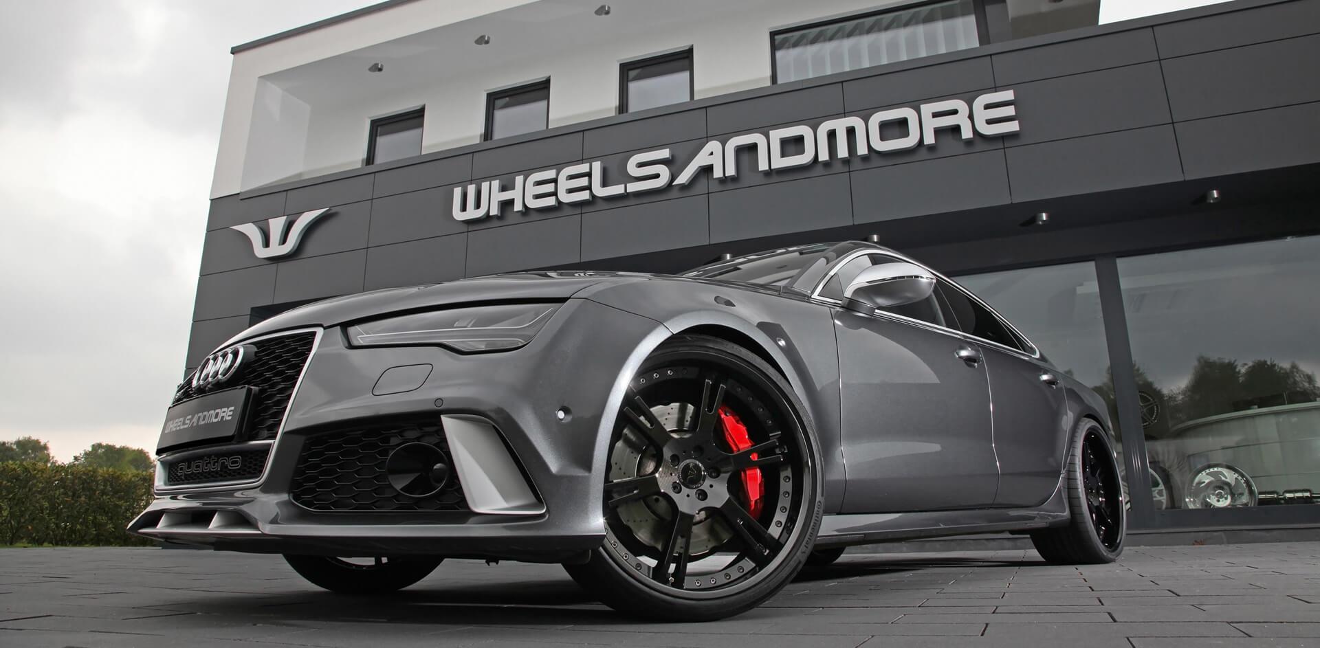 Audi RS7 mit 6Sporz² Felgen in 10,0+11,0×22 Zoll