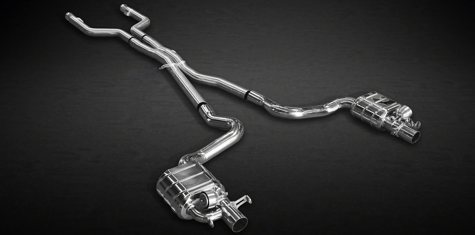 Handgefertigte Klappenauspuffanlagen für Mercedes C63 AMG Bi-Turbo