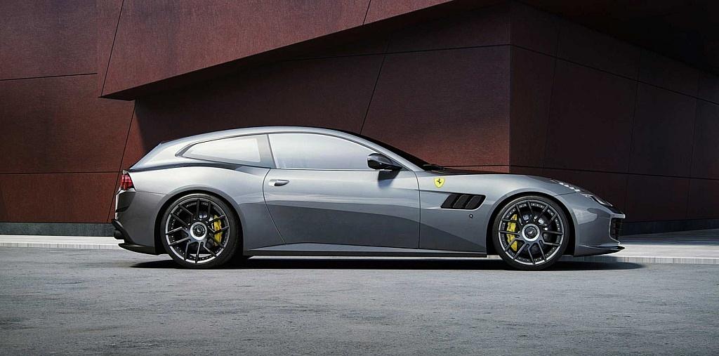 Ferrari GTC4Lusso mit direktionalen Schmiedefelgen FORK in 21 un