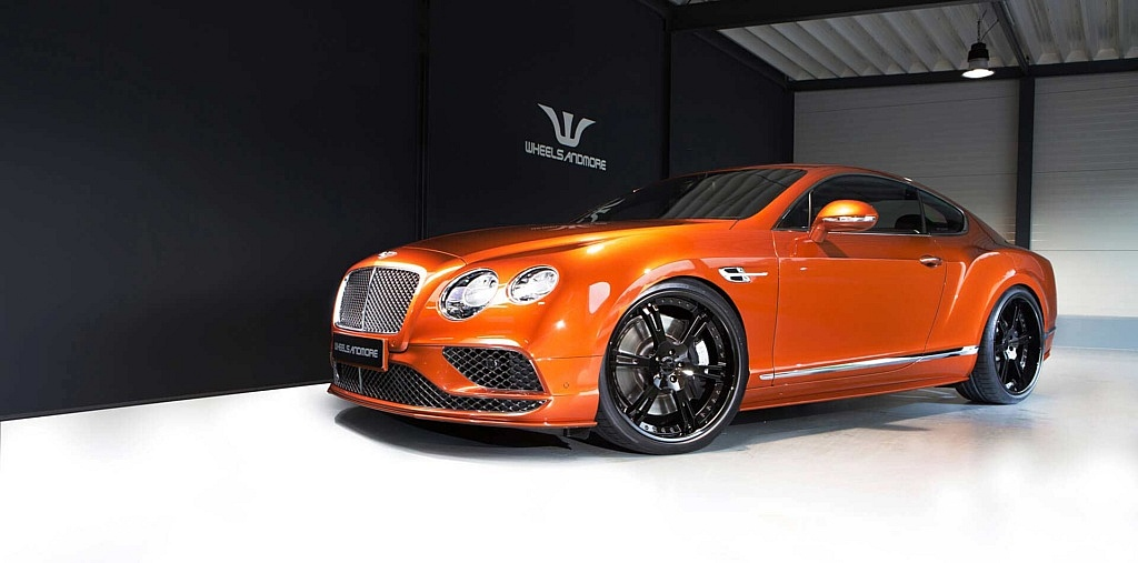 Bentley Continental GT Speed mit 22 Zoll 6Sporz² Felgen, Tiefer