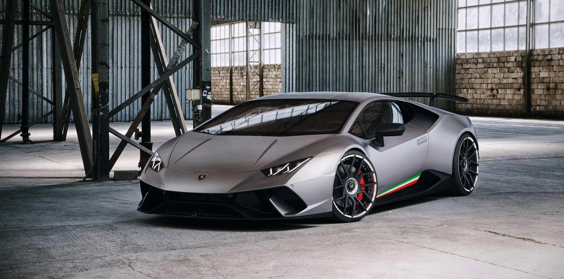 Lamborghini Huracan Performante mit direktionalen FORK Schmiedef