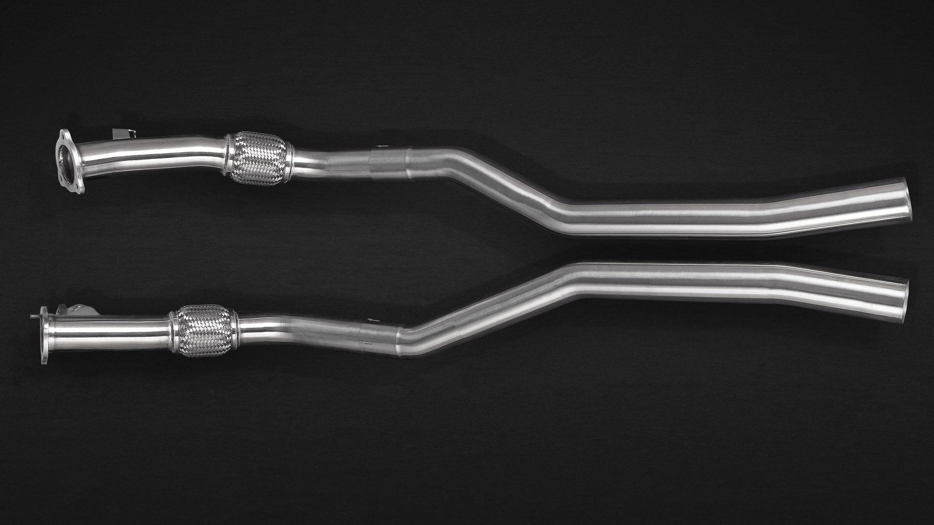 Verbindungsrohre zu den Katalysatoren für Audi RS4 Auspuffanlage