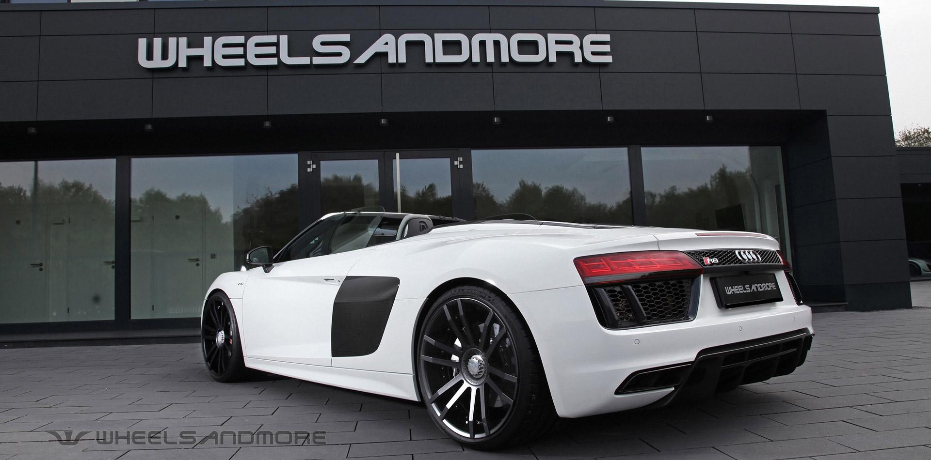 Audi r8 weiß mit felgen und leistungssteigerung auf 800ps