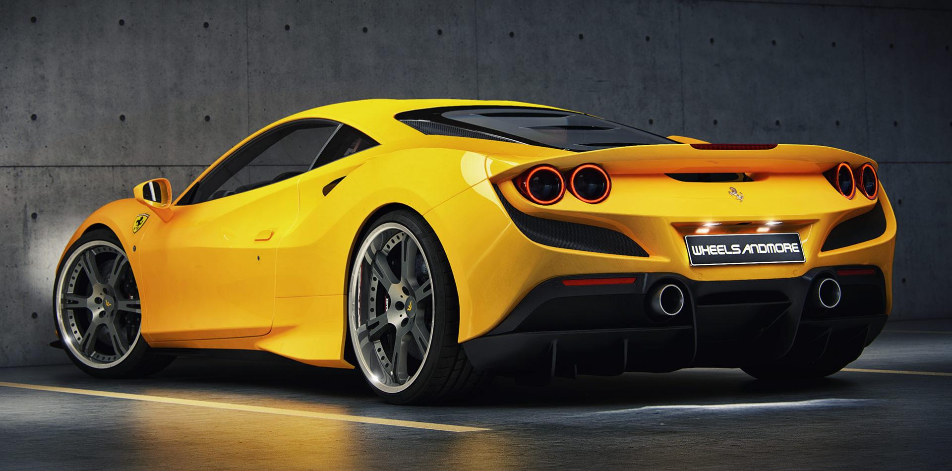 Ferrari F8 Tributo mit 21 und 22 Zoll 6Sporz² Schmiedefelgen und Le